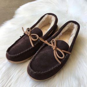 NEW J Crew Merchantile Faux Fur Lined Slippers 7